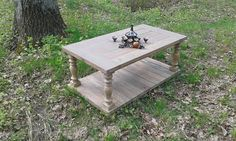 Balustrade coffee tablefarmhouse tablereclaimed wood