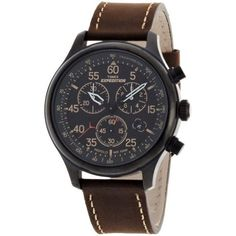 Men's Timex Expedition Field Chronograph Watch with Leather Strap - Black/Brown Men's, Size: Small watches rolex watches Military watches Movado watches nixon watches vintage Bracelet Or Rose, Bracelet Cuir, Cool Watches, Watches For Men, Wrist Watches, Rugged Watches, Leather Watches, Cheap Watches, Vintage Military Watches