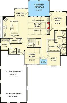 Outstanding Craftsman House Plan - 36052DK   Craftsman, Northwest, 1st Floor Master Suite, Bonus Room, Butler Walk-in Pantry, CAD Available, Den-Office-Library-Study, Jack & Jill Bath, PDF   Architectural Designs