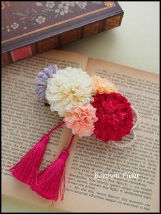結婚式(和装用)髪飾りの画像:Bonbon Fleur ~ Jours heureux コサージュ&和装髪飾り