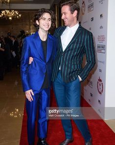 What a cute couple Timothée Chalamet and Armie Hammer   Actor of the Year London Critics Circle Film Awards
