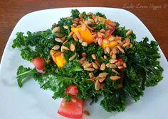 Raw Massaged Kale Salad! #MeatlessMonday