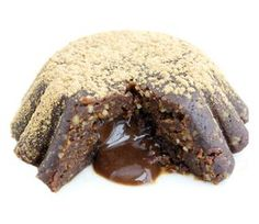Carob Lava Cake Carob Recipes, Raw Food Recipes, Cooking Recipes, Healthy Recipes, Caramel Bars, Lava Cakes, Plant Based Eating, Vegan Cake, Raw Vegan