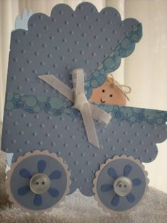 baby card  (Rocky's Thanks by yellowrose46 - Cards and Paper Crafts at Splitcoaststampers)