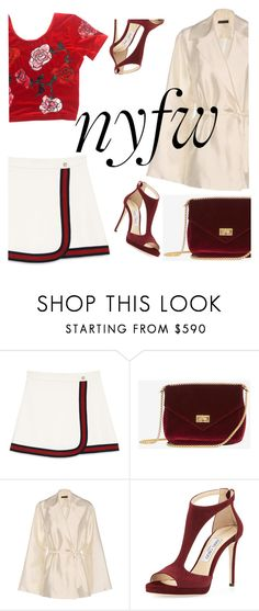 """""""Untitled #458"""" by m-jelic ❤ liked on Polyvore featuring Gucci, The Row and Jimmy Choo"""