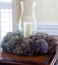 For a few weeks each summer, Gloria Ward's dining room table is all about hydrangeas.