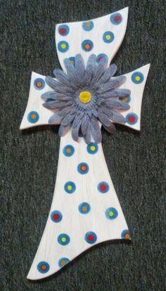 Denim Flower Cross
