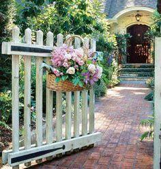 Hanging basket of flowers