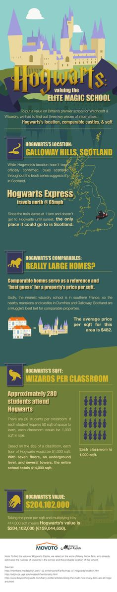 The Value of Hogwarts Castle. Not specifically a library graphic but definitely one I will be showing my library colleagues!