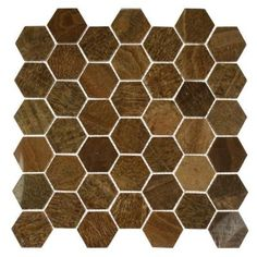 Splashback Tile Hexagon Wood Onyx Mosaic Floor and Wall Tile - 4 in. x 6 in. Tile Sample-L5D8 MARBLE TILE at The Home Depot