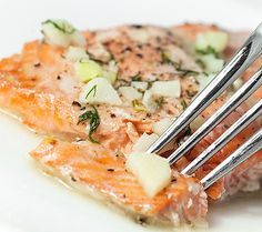 Whole salmon baked in foil is very popular fish recipe,cooked in the oven.Its recommended to use white wine sauce to make this baked salmon more delicious.