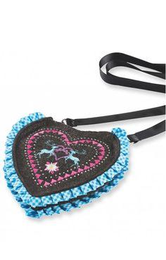 Trachten Tasche T115 Herz anthrazit