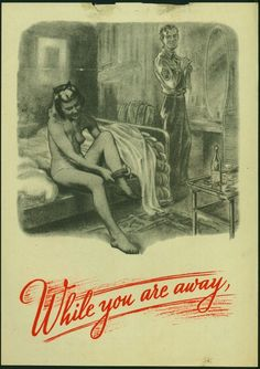 WWII Nazi propaganda shows US soldier and a british woman cheating on her husband – dropped by air on British lines…