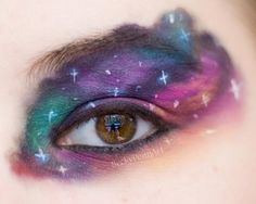 To go with my Dr Who outfit? Only problem is, I'm fairly certain this would look like a bad bruise from across the room. Unique Makeup, Love Makeup, Makeup Ideas, Makeup Looks, Hair Makeup, Nerd Outfits, Fandom Outfits, My Horoscope, Character Makeup