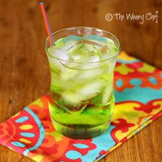 Caribbean Water: A fun Midori cocktail with coconut rum by @TheWearyChef #midori #cocktail