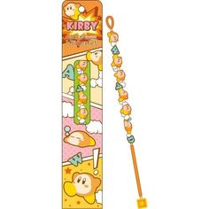 """Adorn yourself with this adorable bracelet featuring the easy-going Waddle Dees from Kirby's Dream Land! At 0.6"""" x 9.4"""", your wrist will become home to 6 of these little guys, plus bright blue letters that spell out WAD - lastly, it's complemented by a bright orange strap and a charm at the end for a cheery effect."""