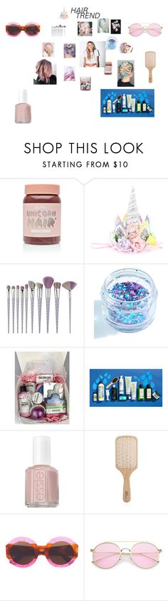 """""""Head-Turner: Unicorn Hair"""" by annali1983 ❤ liked on Polyvore featuring beauty, Lime Crime, In Your Dreams, Essie, Philip Kingsley and Gucci"""