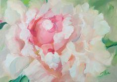 "Original Oil Painting Peony...Size 20""x28"""
