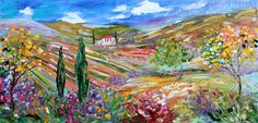 Original oil painting Tuscany Italy Landscape by Karensfineart