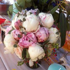 Peony in wedding bouquet