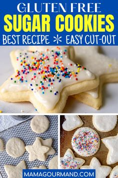 Learn how to make the best gluten free sugar cookies from scratch that are soft, easy to roll out, and taste amazing. Easy gluten free cut out cookie recipe tastes so much like the real thing, no one will know the difference! #glutenfree #sugarcookies #cutout #easy #best #rollout #dairyfree #dough Gluten Free Sugar Cookies, Sugar Cookies From Scratch, Soft Sugar Cookies, Sugar Cookies Recipe, Fun Cookies, Gluten Free Recipes For Kids, Gluten Free Vegetarian Recipes, Gluten Free Desserts, Diabetic Recipes