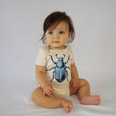 Blue Beetle Organic Onesie