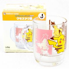 Pokemon Glass Mug Pikachu Banpresto Pocket Monsters Center JAPAN ANIME
