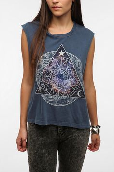 Truly Madly Deeply Cosmic Zodiac Muscle Tee - Urban Outfitters