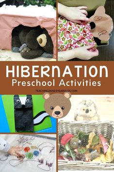 This collection of preschool hibernation activities is a fun addition to the winter theme Packed with an assortment of ideas for your homeschool or classroom Preschool Learning Activities, Animal Activities, Preschool Themes, Preschool Activities, Homeschooling Resources, Preschool Classroom, Toddler Sensory Bins, Toddler Preschool, Letter Recognition Games