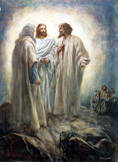 Jesus Talks to the Prophets (Original) (Signed) art by Henry Coller