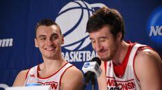 Sam Dekker and Frank Kaminsky -- #CollegeBasketballWisconsinBadger