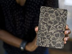 lace pocket notebook