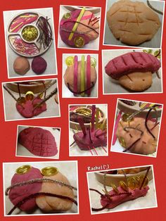 "Chinese New Year... Red and 'Gold' Play Dough from Rachel ("",)"