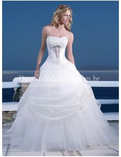 Baile Império Organza Vestidos de Noiva