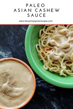 Gluten Free, Paleo Asian Cashew Sauce (omit maple for Whole30 modification)