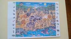 Treino de atenção: Encontrar os animais e plantas localizados nos lados da imagem na mesma, marcando-os com um X.