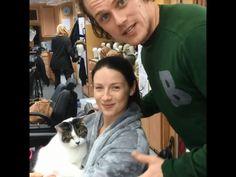 Outlander Sam, Cait and Eddie. BTS season 3 Source: Sam Heughan IG