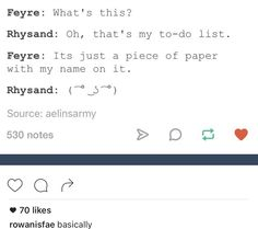 Rhysand is on MY to-do list