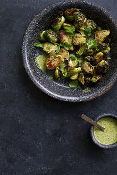 Roasted Brussels Sprouts with Jalapeño Lime Vinaigrette