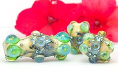 Victoriana Trio Stunning Handcrafted by BeadsbyClareScott on Etsy