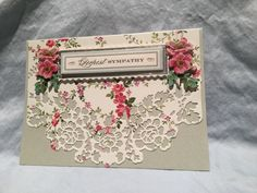 Anna Griffin metallic card with AG fall card layer using AG decorative edge die and various AG embellishments.