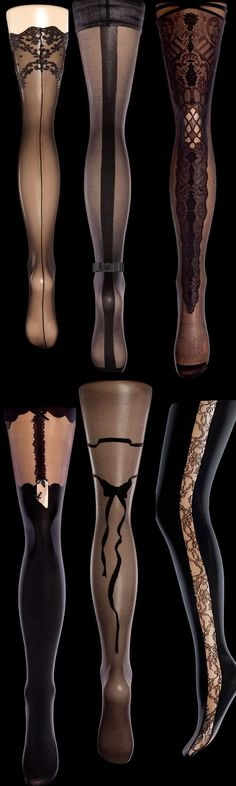 A collection of sexy tights are a must have....love to get creative and make my skirt suits look even better. ☺