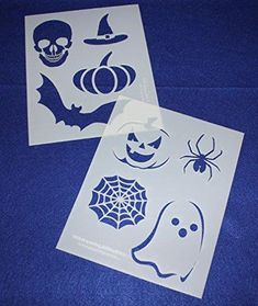 Mylar 2 Pieces of 14 Mil X Halloween Stencils- Painting /Crafts/ Templates: Laser Cut Mylar and Acrylic Templates for Quilting, Sewing and Stencils. Quilting Frames, Quilting Stencils, Quilting Rulers, Quilting Classes, Quilting Blogs, Quilting Designs, Painting Templates, Stencil Painting, Halloween Stencils