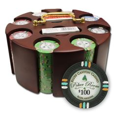 "Brybelly PCS-3301 200Ct Claysmith Gaming ""Bluff Canyon"" Chip Set in Carousel"
