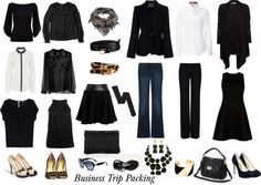"""""""Business Trip Packing"""" by rhondamurphy on Polyvore"""