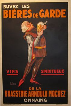Bieres De Garde by Le Clercq from 1930 France #originalposter #vintageposter #décor #beer #gift