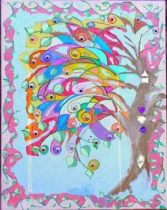 Original Handpainted The Trees Have Eyes by InspriationWorkshop, $60.00