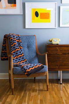 Seven Gauge Studio - Knitted Blanket http://www.sevengaugestudios.com/