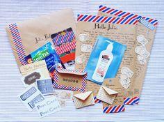 Vintage, postal letter