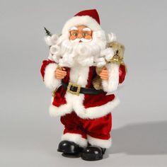 Troll nain Père Noël shabby deco-Personnage Céramique Maison De Campagne Argenté Gris